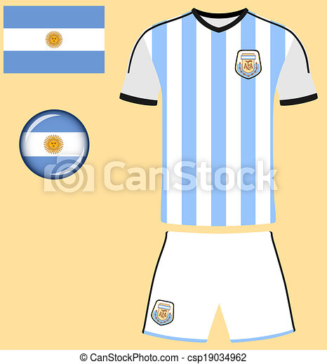 4210109d2 Argentina football jersey. Abstract vector image of the argentinian ...