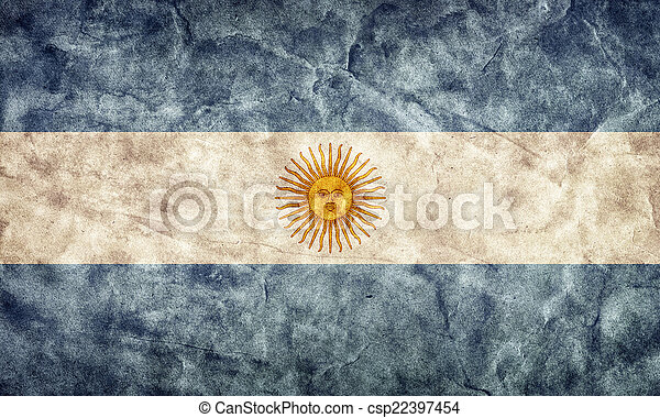 Argentina grunge flag. Item from my vintage, retro flags collection - csp22397454