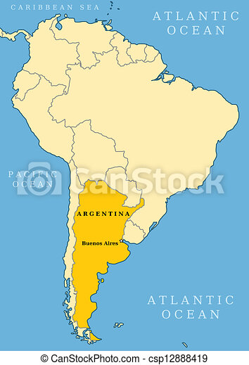 Argentina locator map - country and capital city buenos aires. map ...