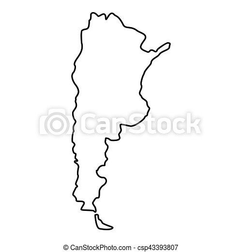 Argentina Map Icon Outline Style Argentina Map Icon Vector - Argentina map outline