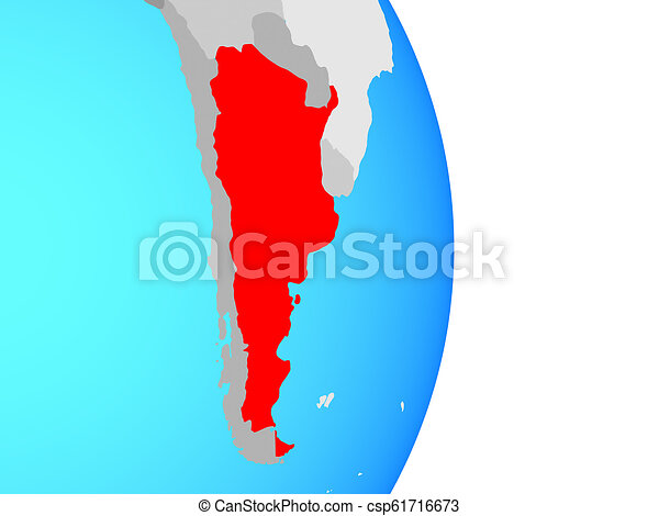 Argentina on globe - csp61716673
