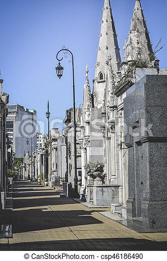 argentina:, -, recoleta, aires, buenos, cimetière, argentine - csp46186490
