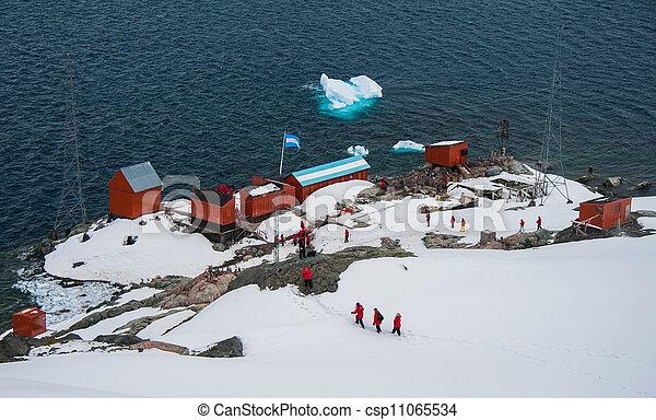 Argentina science station in Antarctica - csp11065534