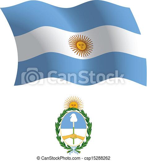 argentina wavy flag and coat - csp15288262