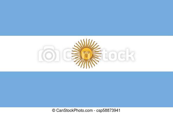Argentinian flag, flat layout, vector illustration - csp58873941