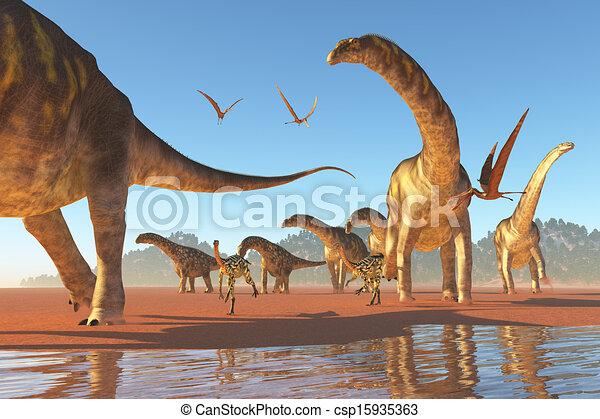 Argentinosaurus Herd - csp15935363