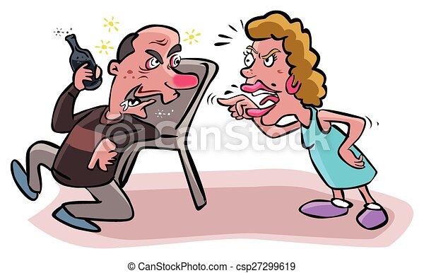 argues, alcolico, marito, moglie - csp27299619
