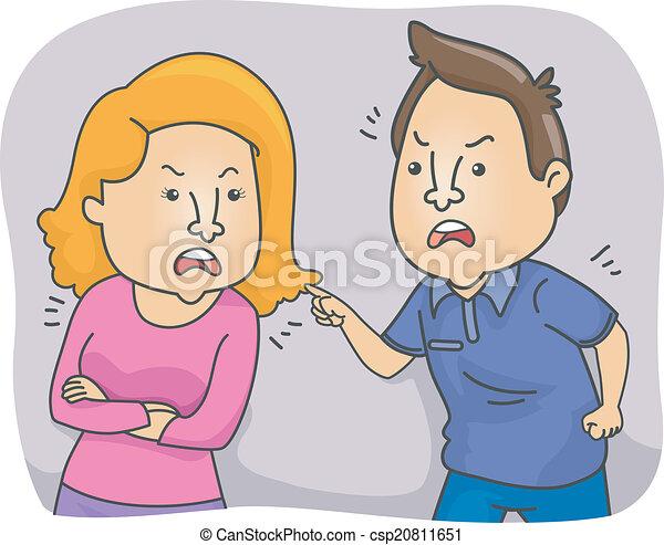 Arguing Couple - csp20811651