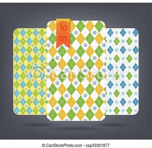 Argyle and chevron patterns. - csp33301877