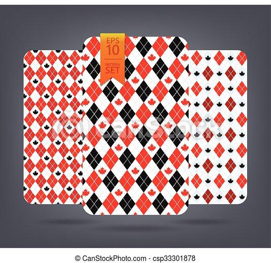 Argyle and chevron patterns. - csp33301878