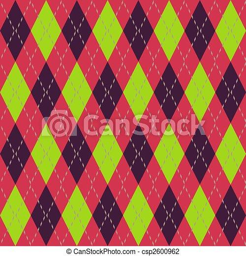Argyle seamless pattern - csp2600962