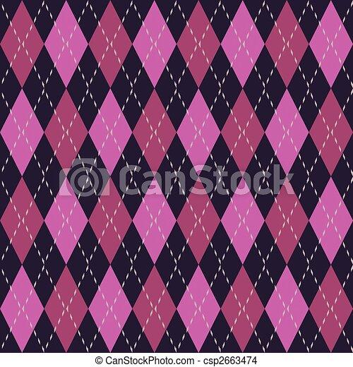 Argyle seamless pattern - csp2663474
