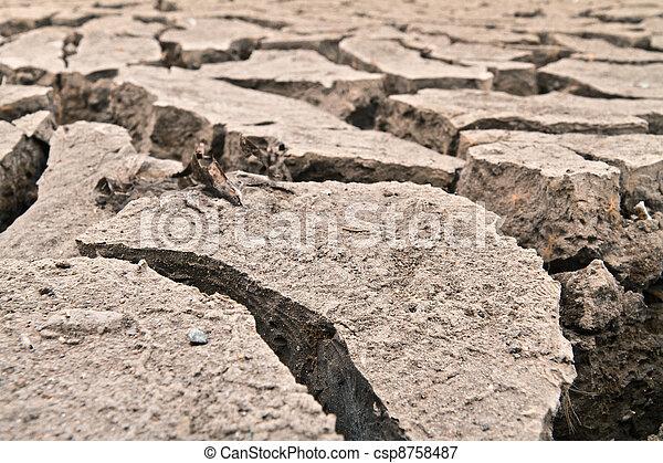 arid ground land - csp8758487