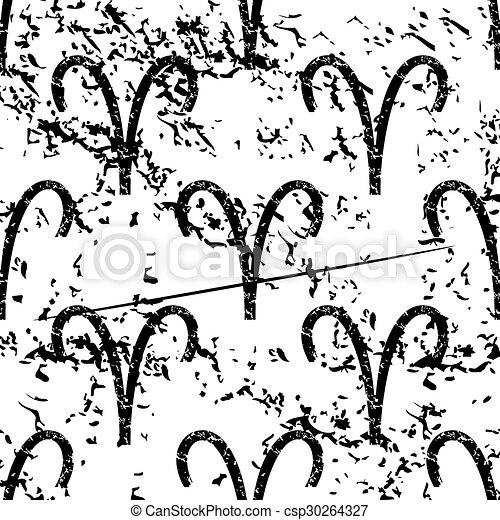 Aries pattern, grunge, monochrome - csp30264327