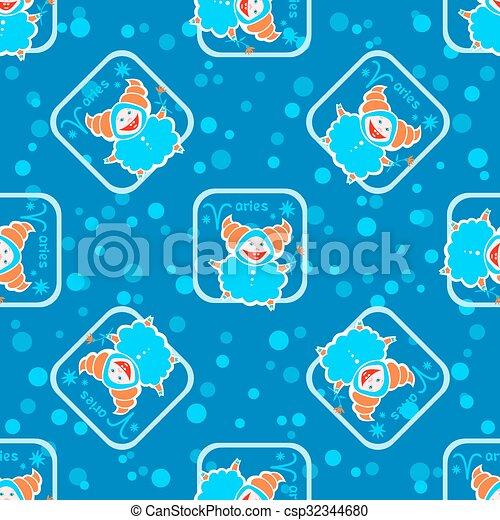 aries seamless pattern - csp32344680