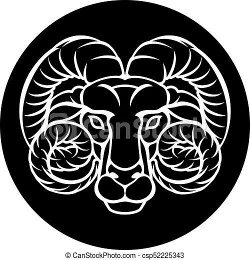 Aries Zodiac Horoscope Sign - csp52225343