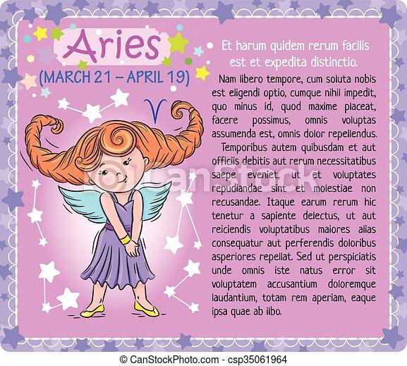 Aries Zodiac kid - csp35061964