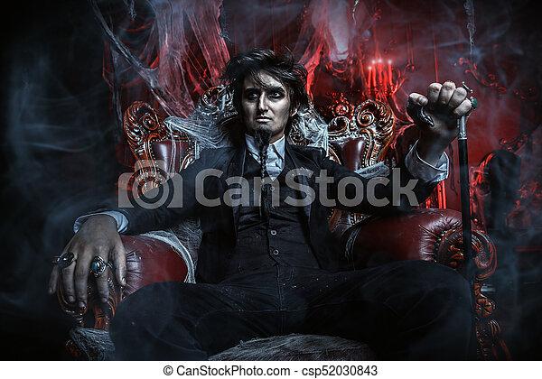 aristocrat vampire man - csp52030843