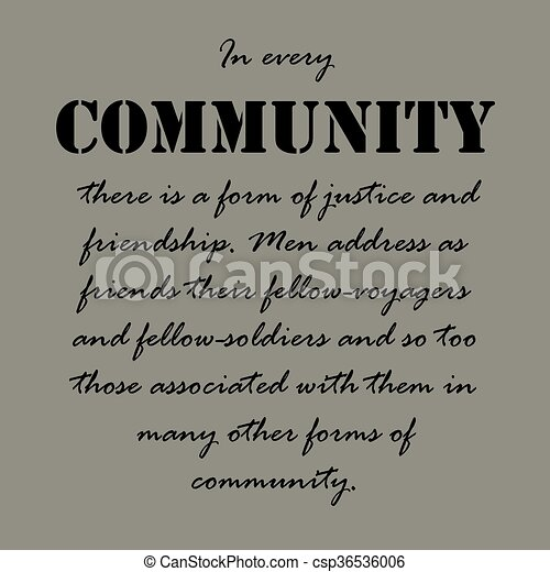 Community Quotes Fair Aristotle Quotesin Every Community Therein Everyvector