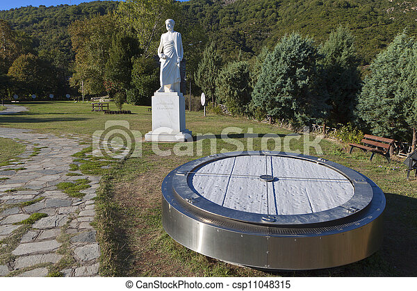 Aristotle statue in Greece - csp11048315
