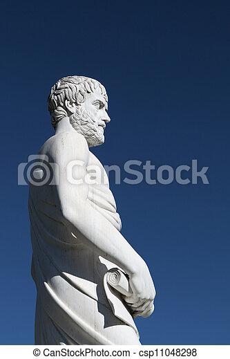 Aristotle statue in Greece - csp11048298