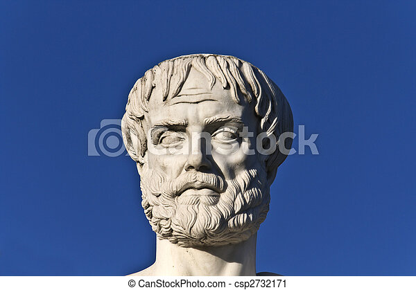 Aristotle statue located at Stageira of Greece  - csp2732171