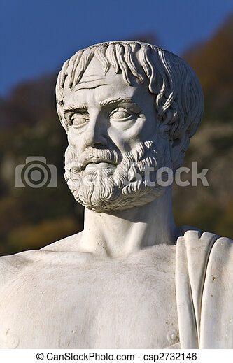 Aristotle statue located at Stageira of Greece  - csp2732146