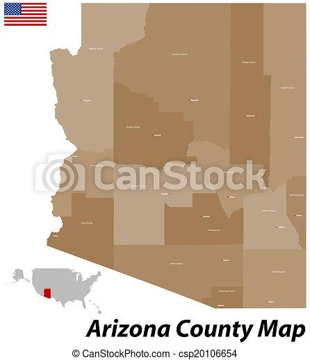 Counties Of Arizona Map.Arizona County Map
