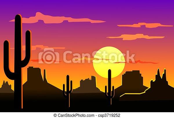 Arizona desert landscape  - csp3719252