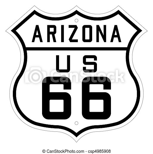 Arizona Highway Or Route 66 Sign Highway Or Route 66 Road Sign