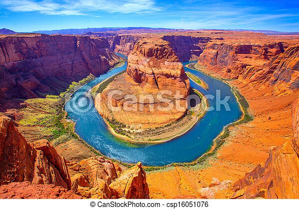Arizona Horseshoe Bend meander of Colorado River - csp16051076