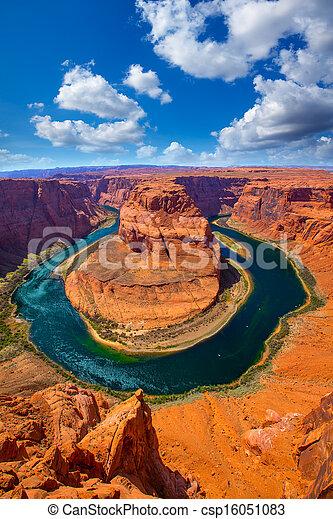 Arizona Horseshoe Bend meander of Colorado River - csp16051083