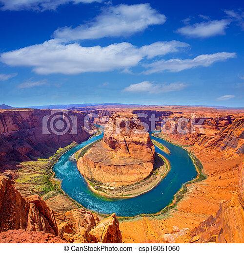 Arizona Horseshoe Bend meander of Colorado River - csp16051060