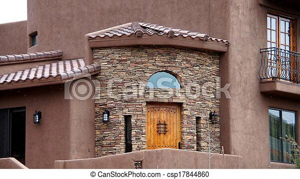 Arizona House Front Entrance - csp17844860