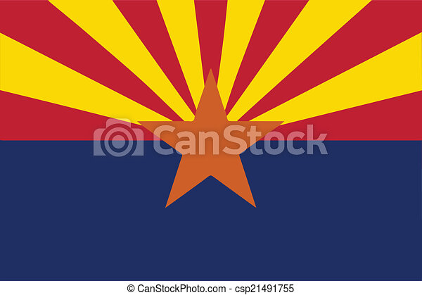 arizona state flag the state flag of the state of arizona clipart rh canstockphoto com arizona flag clip art phoenix arizona clip art