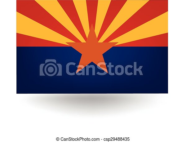 Arizona State Flag - csp29488435