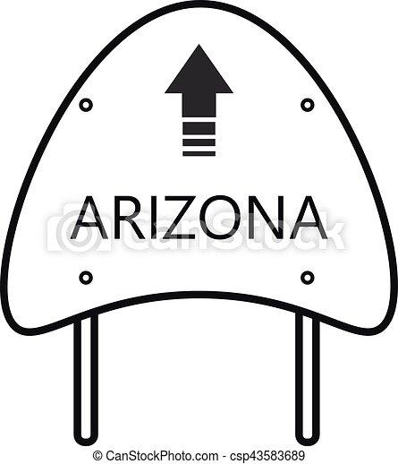 arizona state sign road vector search clip art illustration rh canstockphoto com arizona clip art free arizona clipart black and white