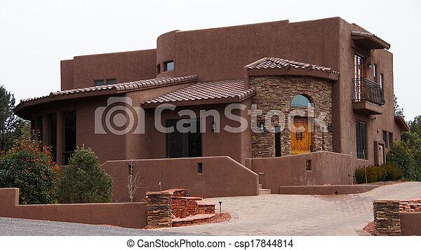 Arizona Stucco House - csp17844814