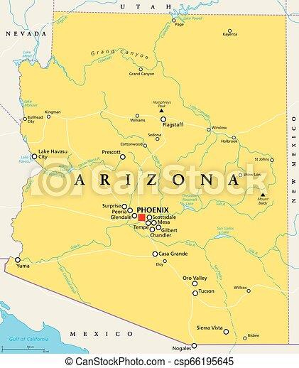 Arizona, United States, political map