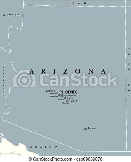 Arizona United States Political Map