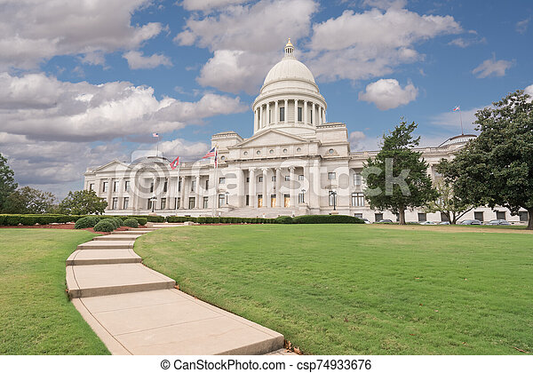 Arkansas Capitol Building in Little Rock - csp74933676