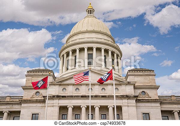 Arkansas Capitol Building in Little Rock - csp74933678
