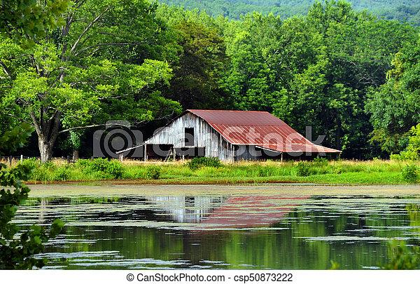 Arkansas Ozark's Rustic Barn - csp50873222