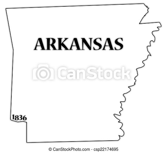 arkansas state and date an arkansas state outline with the date of