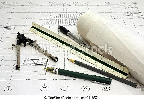 arkitektur, planer - csp0118574