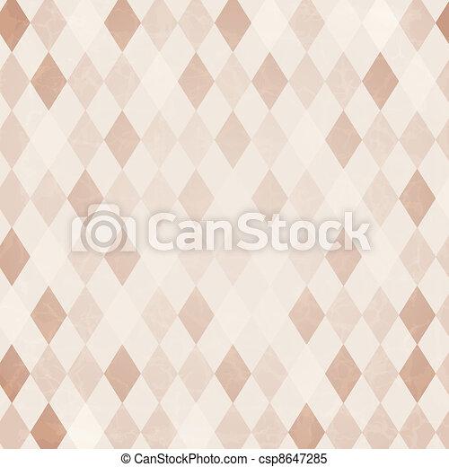 arlequin, retro, fond - csp8647285