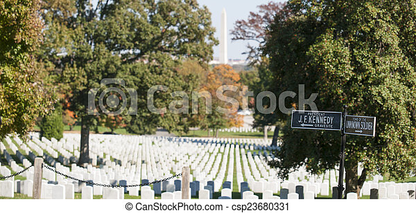 Arlington National Cemetery. - csp23680331