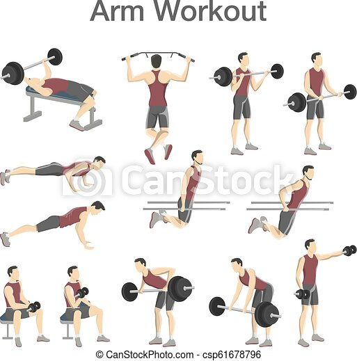 arm workout set for men with different tools arm workout