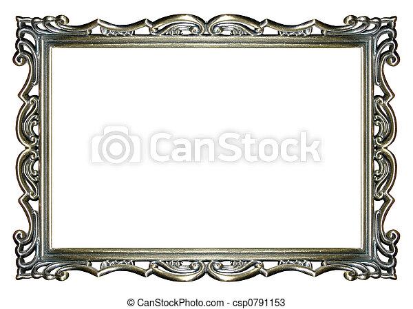 armação quadro, prata - csp0791153