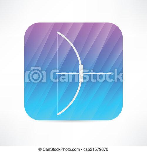 icono de arma de arco - csp21579870